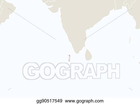 Vector Stock - Asia with highlighted maldives map. Stock Clip Art ...