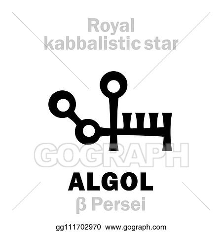 Clip Art Vector - Astrology: algol (the royal behenian