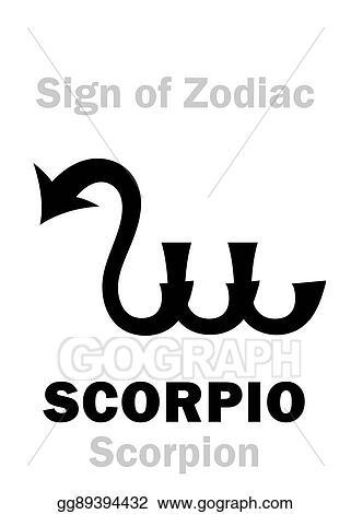 Vector Stock - Astrology: sign of zodiac scorpio (the