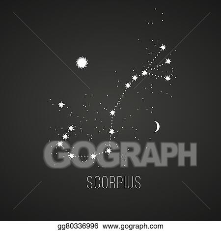 astrology sign scorpius on chalkboard background