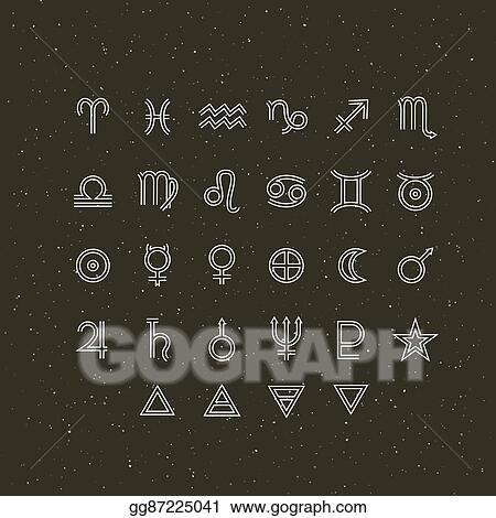 Vector Stock - Astrology symbols and mystic signs  set of