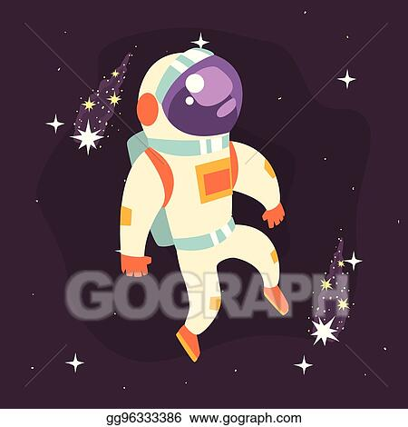 Vector Illustration , Astronaut in space suit working in
