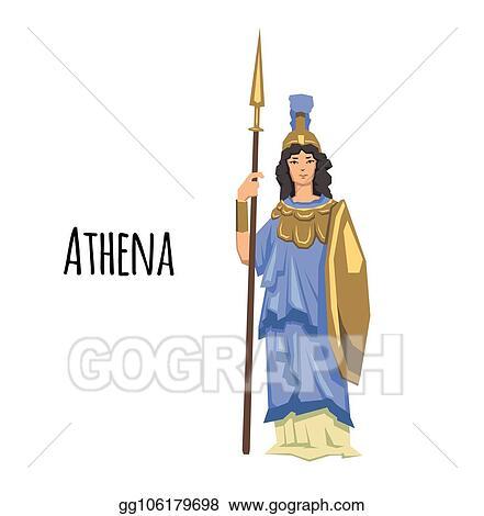 Vector Art Athena Ancient Greek Goddess Of Wisdom War