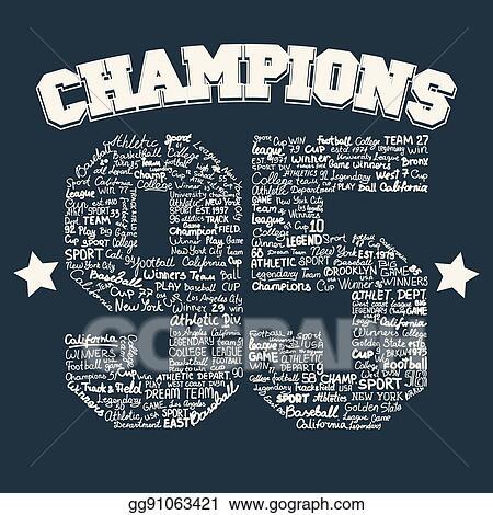 86d759234 Vector Art - Athletics typography, t-shirt graphics. EPS clipart ...