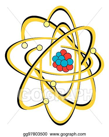 Vector Illustration Atomic Structure Of Carbon Atom Eps Clipart