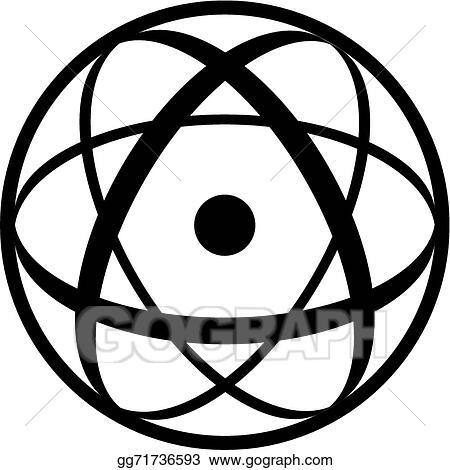 vector illustration atomic symbol stock clip art gg71736593 gograph Atomic Shield atomic symbol