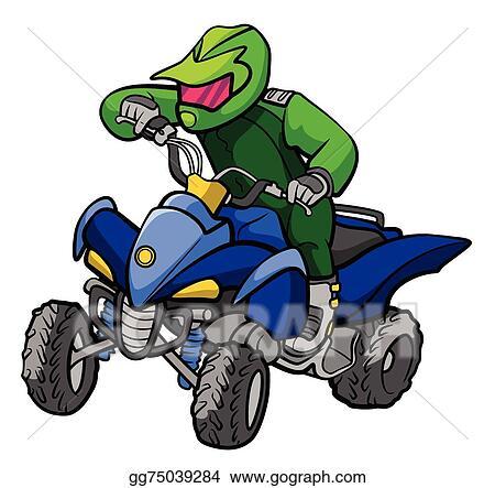 clip art vector atv moto stock eps gg75039284 gograph rh gograph com atv clip art 4 wheelers atv clip art free