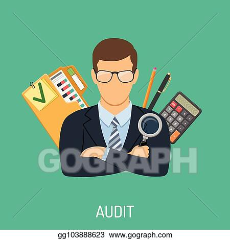 Vector Stock - Auditor and accounting concept  Clipart Illustration