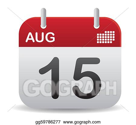 August Calendar Clip Art Royalty Free Gograph