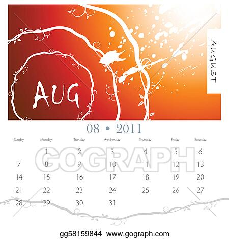 August Clip Art Royalty Free Gograph