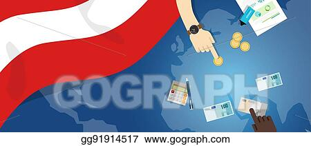 Vector Art Austria Economy Fiscal Money Trade Concept Illustration
