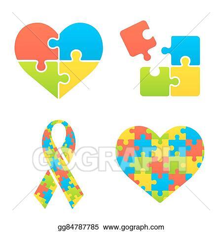 Eps Illustration Autism Awareness Symbols Vector Clipart