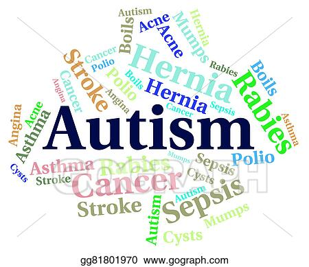 Autism And Ill Health How To Spot >> Stock Illustration Autism Word Means Ill Health And Ailment Stock