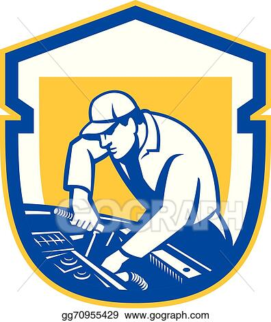 vector clipart auto mechanic automobile car repair shield retro
