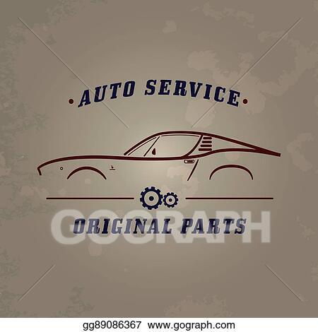 Vector Art Auto Service Classic Car Logo Eps Clipart Gg89086367