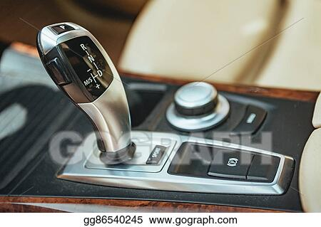 Stock Illustration - Automatic transmission lever  detail of modern
