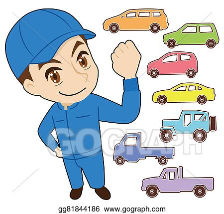 clip art automobile inspection stock illustration gg81844186