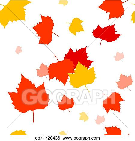 Clip Art Vector Autumn Leaves Blowing In The Wind Stock Eps Gg71720436 Gograph