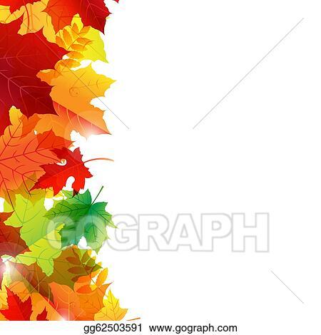 vector illustration autumn leaves border eps clipart gg62503591