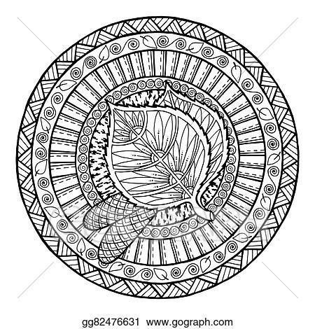 Mandala Tribal Doodle Ornament