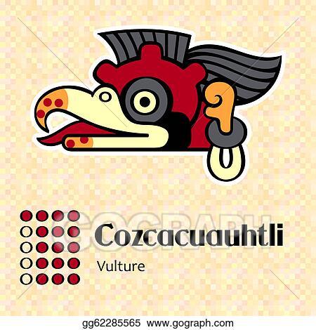 Clip Art Vector Aztec Symbol Cozcacuauhtli Stock Eps Gg62285565