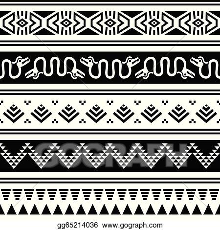 Vector Art Aztec Tribal Seamless Pattern Snake Clipart Drawing Impressive Aztec Tribal Pattern