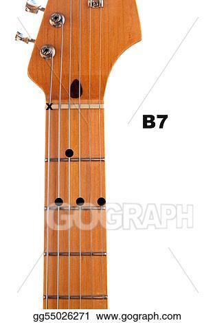 Stock Illustration B7 Guitar Chord Diagram Stock Art