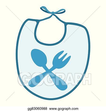 vector art baby bib with blue border cartoon icon clipart drawing rh gograph com baby girl bib clipart baby boy bib clipart