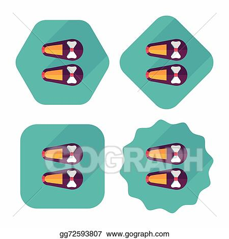 vector illustration baby booties flat icon with long shadow eps10 rh gograph com blue baby booties clipart baby sandals clipart