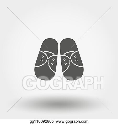 Vector Art Baby Booties Sneakers Icon Vector Silhouette Flat Design Clipart Drawing Gg110092805 Gograph