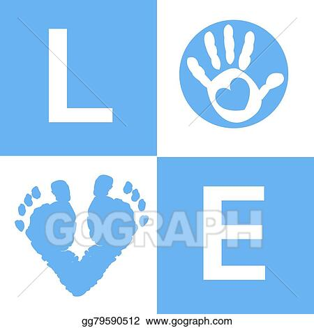 Vector Stock Baby Boy Baby Hand And Feet Prints Clipart