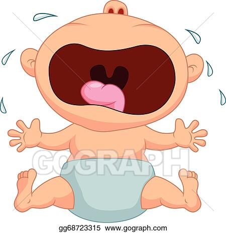 Vector Stock Baby Boy Cartoon Crying Clipart Illustration Gg68723315 Gograph