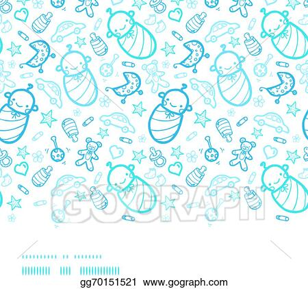 Vector art baby boys horizontal border seamless pattern background baby boys horizontal border seamless pattern background voltagebd Choice Image