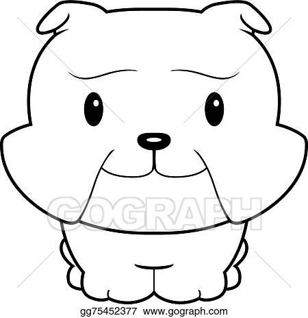 Vector Art Baby Bulldog Clipart Drawing Gg75452377 Gograph