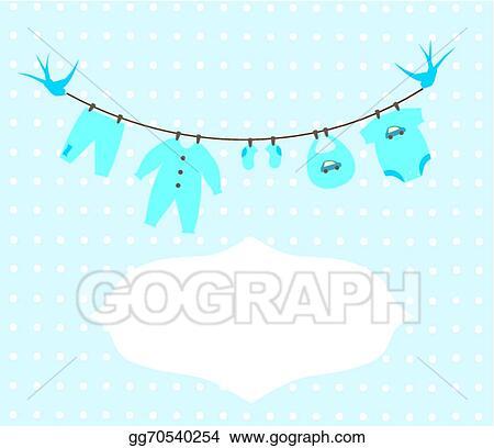 158070a5b Vector Clipart - Baby clothes. Vector Illustration gg70540254 - GoGraph