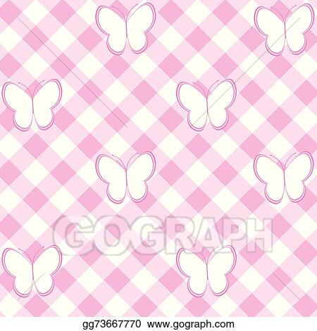 vector illustration baby girl background with tablecloth and