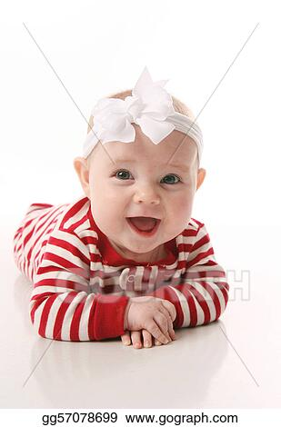 1d31ee1b85 Stock Photography - Baby girl in holiday jammies. Stock Photo ...