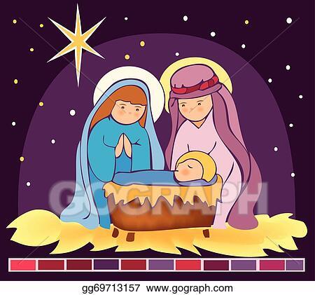 Baby Jesus In A Manger 3