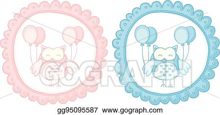 vector stock baby owl baby shower sticker labels stock clip art