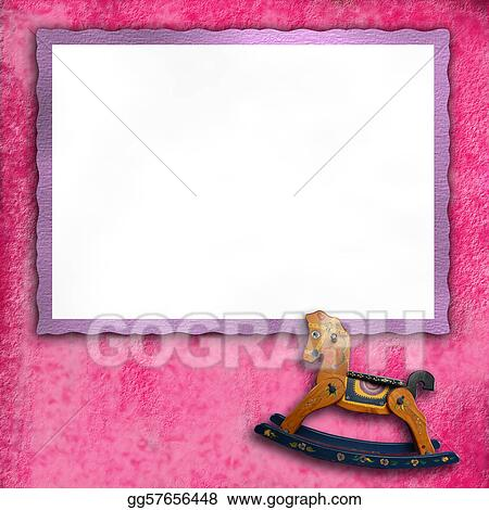 Stock Illustrations Baby Pink Photo Frames Stock Clipart