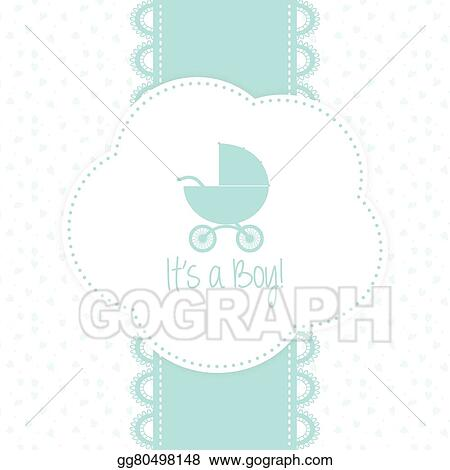 Vector Art Baby Shower Background Clipart Drawing Gg80498148