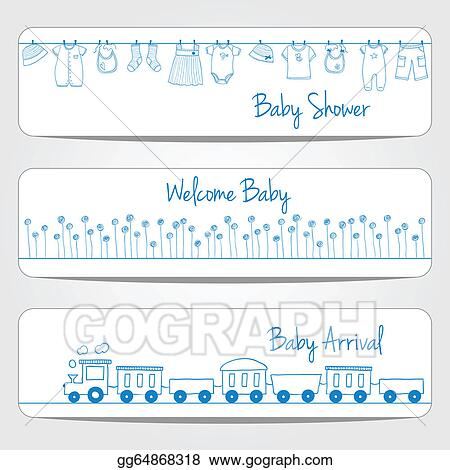 Vector Stock Baby Shower Banners Clipart Illustration Gg64868318 Gograph