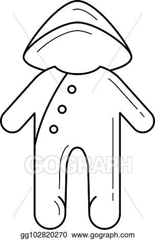 3a88c42a4923 Vector Stock - Baby sleepsuit vector line icon. Stock Clip Art ...