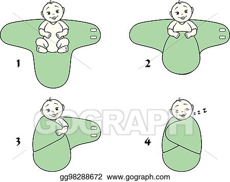 Baby Swaddled Stock Illustrations – 246 Baby Swaddled Stock Illustrations,  Vectors & Clipart - Dreamstime