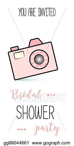Vector Stock Bachelorette Party Template Bridal Shower Print On
