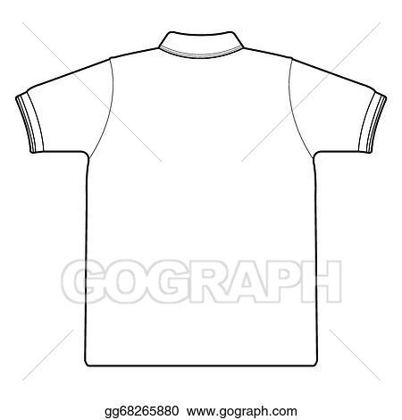 01ec41e2b0533a Vector Stock - Back side of polo shirt vector. Stock Clip Art ...