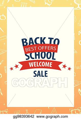 Vector Art Back To School Background Education Banner Vector Illustration Eps Clipart Gg98393642 Gograph