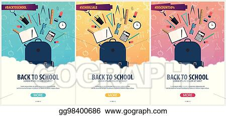 Vector Art Back To School Background Education Banner Vector Illustration Eps Clipart Gg98400686 Gograph