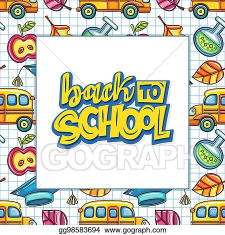 Vector Stock Back To School Banner Or Frame Education Series Stock Clip Art Gg98583694 Gograph