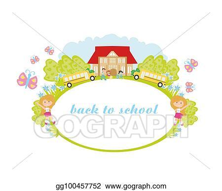 Clip Art Vector Back To School Frame Stock Eps Gg100457752 Gograph